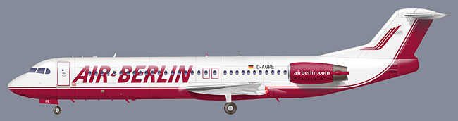 grafik fokker 100, air berlin,d agpe